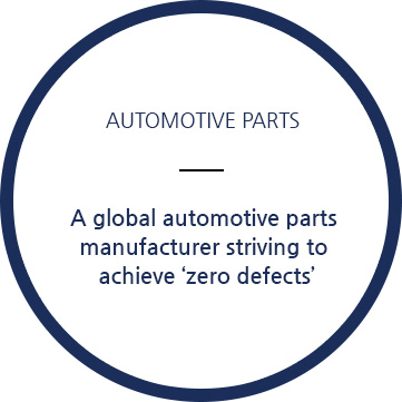 A global automotive parts manufacturer striving to achieve 'zero defects'